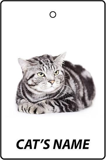 Personalised American Shorthair Cat Car Air Freshener