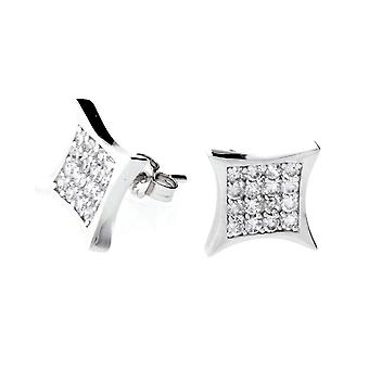 Sterling 925 Silver earrings - MINI CRYSTAL 10 mm