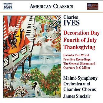 C. Ives - Charles Ives: Decoration Day; Fourth of July; Thanksgiving [CD] USA import