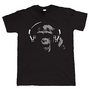 Chimp DJ, Mens Funny T-Shirt