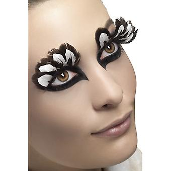 Eyelashes artificial eyelashes brown white feathers