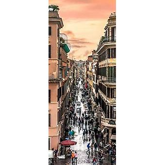 City street Rome Italy Poster Print by  Assaf Frank