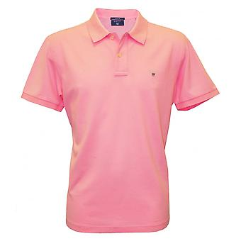 Gant Solid Pique Polo Shirt, Soft Rose