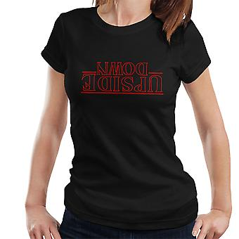 Stranger Things Upside Down Text Women's T-Shirt