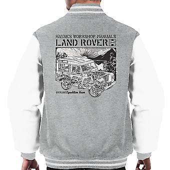 Haynes Owners Workshop Manual Land Rover Sunset Black Men's Varsity Jacket