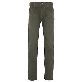 True Religion Steve Army Green Chino Trousers