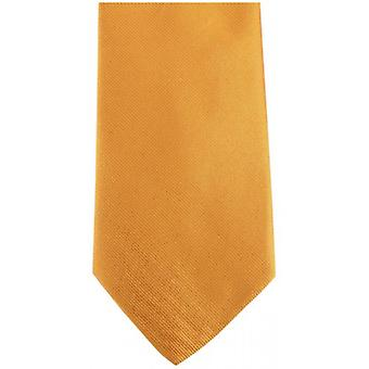 Bassin and Brown Plain Silk Tie - Yellow/Green