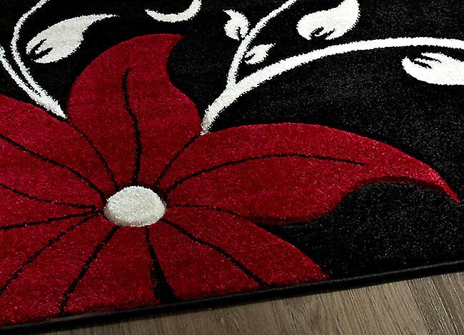 Verona OC15 schwarz - rot-schwarz und rot Rechteck Teppiche moderne Teppiche