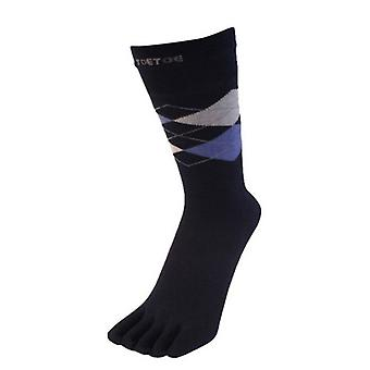 TOETOE Essential Men's Argyle Toe Socks - Navy/Blue/Light Blue
