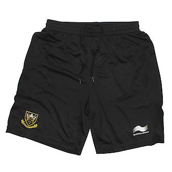 BURRDA northampton saints rugby training gym shorts [black]