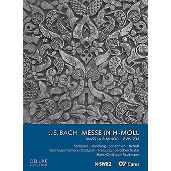 Bach, J.S. / Sampson / Vondung / Johannsen / Berndt - Messe i H-Moll (masse i B mindre) Bwv 233 [CD] USA import