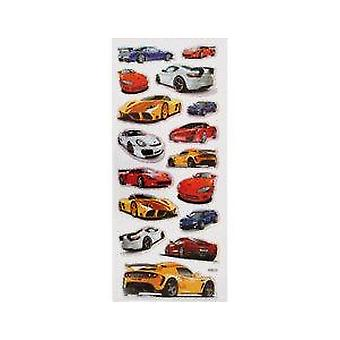 SALE -  Holographic Cars Sticker Sheet for Kids Crafts