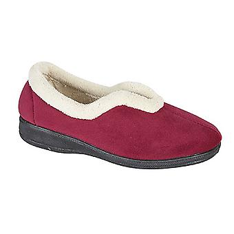 Sleepers Womens/Ladies Olivia V Throat Memory Foam Slippers