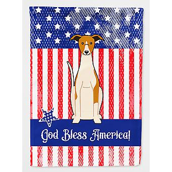 Carolines Treasures  BB3094CHF Patriotic USA Whippet Flag Canvas House Size