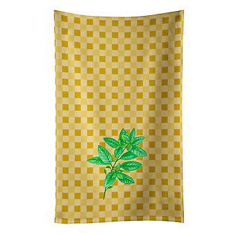 Carolines tesouros BB7184KTWL manjericão na toalha de cozinha Basketweave