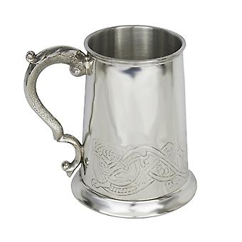 1 Pint Tankard with Highland Serpent Design and Ornate Handle...