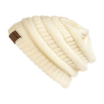 Galiva Frauen Acryl ComfWarm Winter Beanie, Off-White