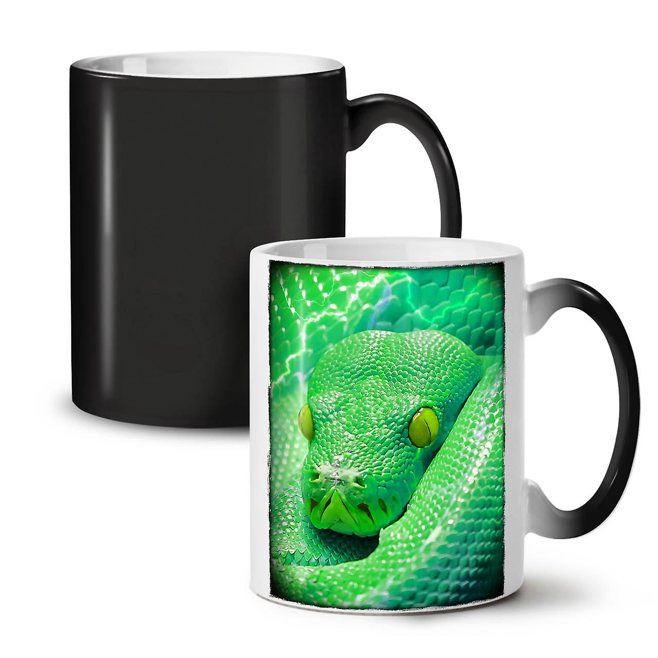 Serpent Changeant Tasse OzWellcoda Thé Nouveau Céramique Café Vert Noir 11 Mignon Coloris w0nOPk