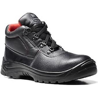 V12 V6471 Elk Black Grained 4 D-Ring Boot EN20345:2011-S1P Size 6