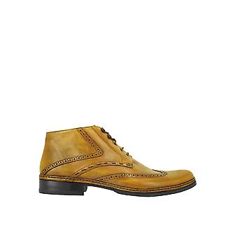 Pakerson men's 14004127 yellow leather ankle boots