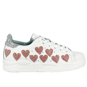 Chiara Ferragni women's CF1915 White leather of sneakers