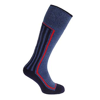 Mens Long Length Knitted Arch Support Ski Socks