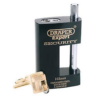 Draper 64204 Expert 82mm Heavy Duty Close Shackle Padlock And 2 Keys