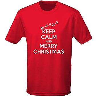 Houd kalm Merry Christmas Xmas Mens T-Shirt 10 kleuren (S-3XL) door swagwear