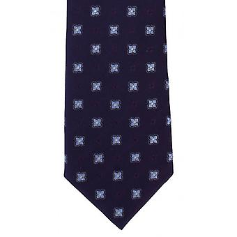 Michelsons of London Traditional Neat Silk Tie - Purple