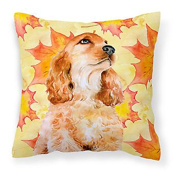 Carolines Treasures  BB9967PW1414 Cocker Spaniel Fall Fabric Decorative Pillow