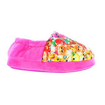 Girls Shopkins Pink Elasticated Slip On Slipper UK Child Various Sizes