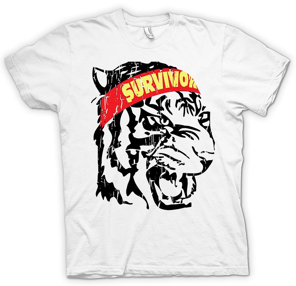 Mens T-shirt - Survivor - Eye Of The Tiger