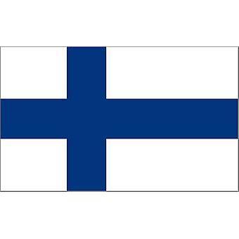 Finlândia bandeira 5 pés x 3 pés com ilhós para pendurar