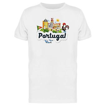 Portugal Tourism Doodle Tee Men's -Image by Shutterstock
