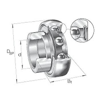 Roulement à billes Radial Insert Ina Rae25-APM-B