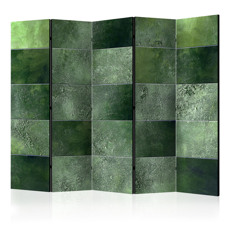 Paravent 5 volets - vert Puzzle II [Room Dividers]