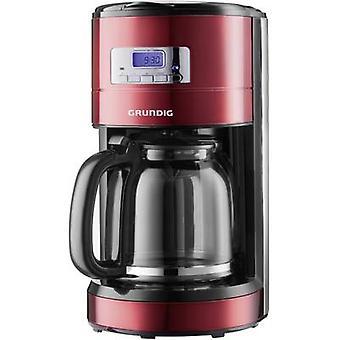 Grundig KM 6330 cafetera rojo (metalizado), negro, volumen de Copa de acero inoxidable = 12 pantalla, temporizador
