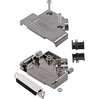 encitech D45PK-M-25-HDS44-K D-SUB receptacle set 45 ° Number of pins: 44 Solder bucket 1 Set