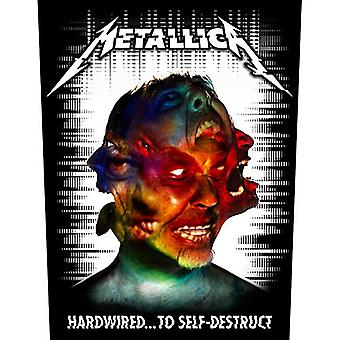 Metallica Hardwired To Self-Destruct Jumbo Sized Sew-On Cloth Backpatch 360Mm X 300Mm