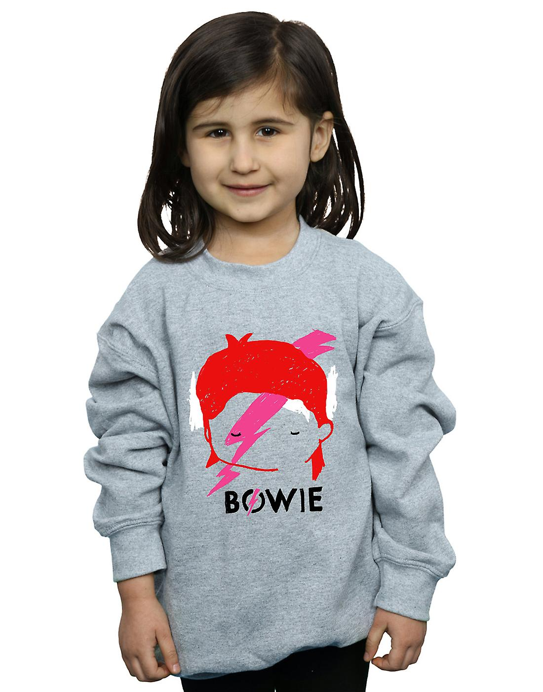 Filles de David Bowie Lightning Bolt croquis Sweatshirt