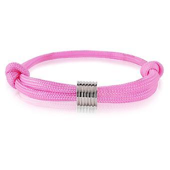 Skipper bracelet surfeur bande marque nœuds bracelet rose avec pendentif argent 7370
