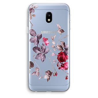 Samsung Galaxy J3 (2017) Transparent Case (Soft) - Pretty flowers