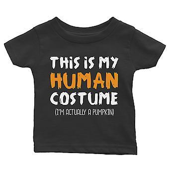 Human Costume Pumpkin Baby Gift Tee Black