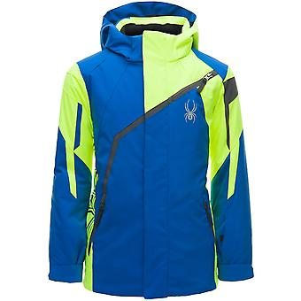 Spyder CHALLENGER kids ski jacket - blue / yellow
