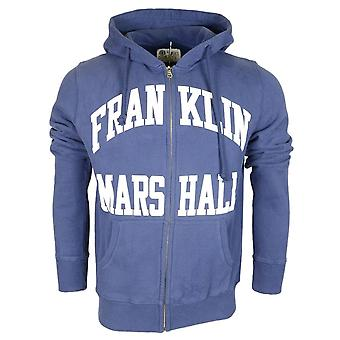 Franklin & Marshall Cotton Navy Zip Up Hoodie