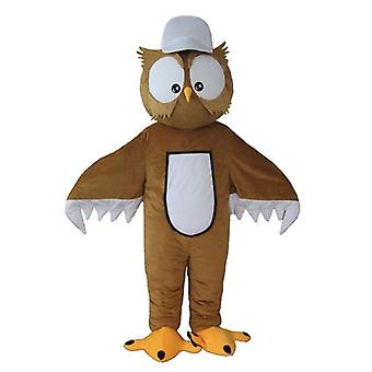 mascot OWL Brown and white, with big eyes SPOTSOUND
