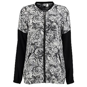 ONeill Womens Fable Bomber Jacket Coat Top Lightweight Zip Full Print