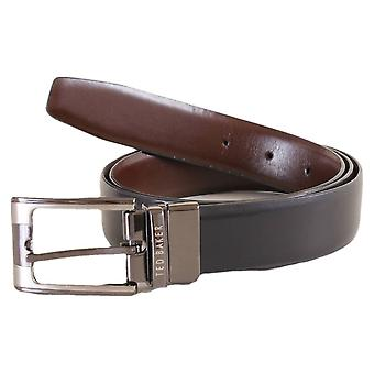 Ted Baker Crafti Smart Leather Reversible Belt - Black/Brown