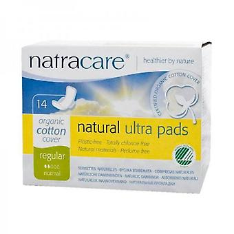 Natracare Regular Compresses with Wings 14 uds