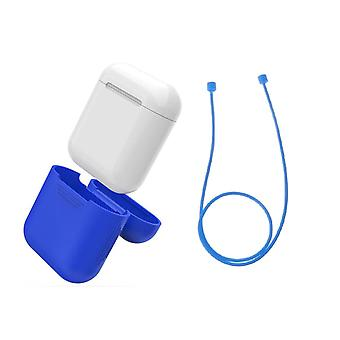 Airpod Silicone Case + Earbud Straps & Wrist Strap Apple BLUE